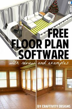 Free Floor Planner Software review with examples -- you can even design the floor plan for an entire home -- great if you are building or remodeling !!!