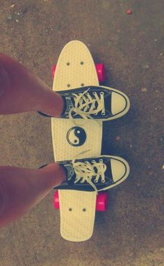 Got one of my skateboards out...Jc calls them penny boards, an. Technically they are, but I prefer skateboarding. I have like dozens of them. -Acacia