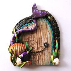 Mermaid Tail Fairy Door Miniature Door Fantasy Pixie by Claybykim