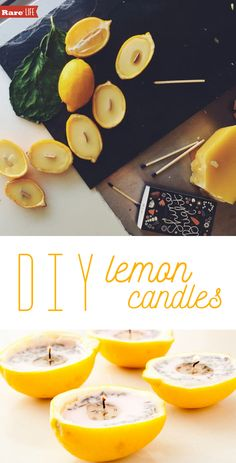 DIY Lemon Candles! Such a great-eco-friendly DIY project. #rareus #ad