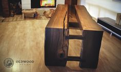 table with bog oak 1600 years, one of a kind