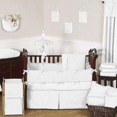 White Diamond Bedding By Sweet Jojo Designs Baby Crib Wh
