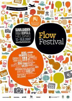 Kuvat(?) - Flow Festival - Poster / Theodore Design