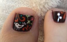 Toenail art hand painted by meg!!
