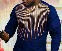 Best African clothing for men & 100 dashiki African shirts for sale at Africa Blooms. Buy African wedding suit and kaftan for men. African Attire For Men, African Clothing For Men, African Wear, African Dress, African Style, Men African Shirts, Nigerian Men Fashion, African Men Fashion, African Fashion Dresses