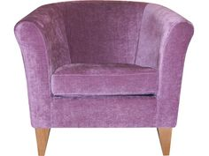 Charlie tub chair in Mulberry - Harveys