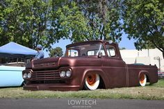 You don't see many of these '56-'60 lowered Ford trucks