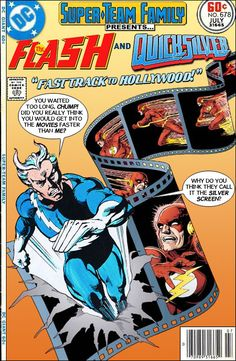 "Super-Team Family: The Lost Issues!: The Flash and Quicksilver in ""Fast Track to Hollyw. Marvel Comic Books, Comic Book Characters, Comic Book Heroes, Comic Character, Comic Books Art, Comic Art, Dc Heroes, Book Art, Dc Comics Vs Marvel"