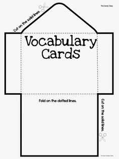 Carol's Teaching Garden: Pourquoi Stories and the Interactive Notebook Vocabulary Foldable, Vocabulary Cards, Verbo Can, Lap Book Templates, Templates Free, Social Studies Notebook, Interactive Journals, American History Lessons, Pocket Notebook