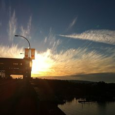 Clouds of fire. #Vancouver. Burrard Bridge
