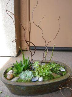belle maison: DIY Succulent Indoor / Outdoor Centerpiece