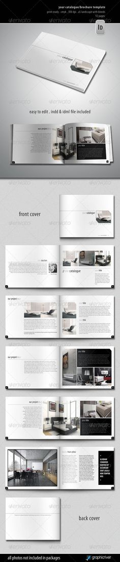 Your Catalogue/Brochure Template Features: 12 pages A5 Landscape Bleed 3 mm Print ready Master pages Text, Images and Objects are placed into the separated layers for easy editing http://startupstacks.com/print-templates/cataloguebrochure-template.html - free download