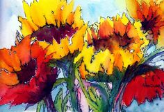 Sunflower Serenade Painting  - Sunflower Serenade Fine Art Print