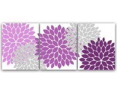 Flower Burst Wall Art Bathroom Art INSTANT by HuggableMeDesigns