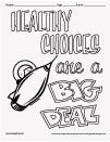 Healthy Choices Are A Big Deal coloring page for Red Ribbon Week Activities