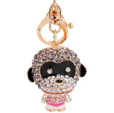 Punk Style Evil Monkey Super Cool key Chain Pendant For Rock Music Fans Bag Handbag Backpack Charms Ornament
