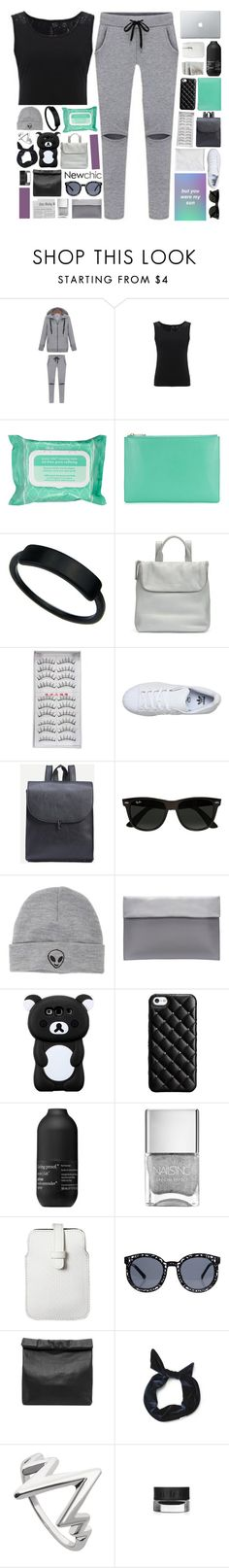 """""""synesthesia / newchic style"""" by pheachy ❤ liked on Polyvore featuring Ole Henriksen, Whistles, adidas, Ray-Ban, With Love From CA, Case-Mate, Living Proof, Mossimo and Marie Turnor"""
