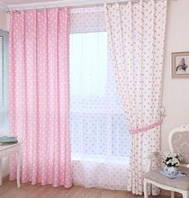 A2 Chilren room blackout curtain pink dot kids cartoon girls boys curtain finished product window screening customized 100x260cm(China (Mainland))