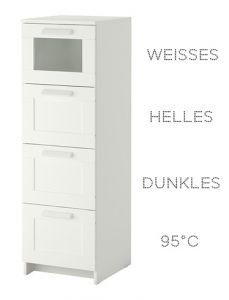 Wäsche-Sortier-Kommode  - Wäschelösung - Wäsche viel effektiver sortieren mit der Brimnes Kommode von Ikea!