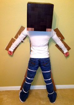 Minecraft Costume Full body Costume Complete Kit by LemurApps Minecraft Halloween Costume, Minecraft Costumes, Minecraft Party, Halloween Costumes, Creeper Costume, Full Body Costumes, Boy Costumes, Costume Ideas, Holidays Halloween