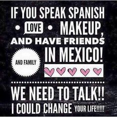 Looking for a lady who is MOTIVATED, wants to make MONEY, and be the FIRST Lip Lash Presenter for our Younique Mexico Market!!!!! *no travel required *work from home  *must speak Spanish  *PT & FT option you make your schedule   Contact me or click on the
