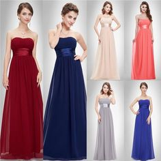 Ever-Pretty - ever-pretty womens fashion floor length strapless sweet formal evening party bridesmaid prom ball gown 09955 for women burgundy us 14 Women's Fashion Dresses, Girl Fashion, Womens Fashion, Fashion 2017, Simple Work Outfits, Burgundy Bridesmaid Dresses, Bridesmaids, Ever Pretty, Bow