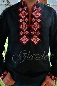 Ukrainian Embroidered Shirt, Ukrainian vyshyvanka for men by GLAZDOV on Etsy #ukrainianembroidery vyshyvankamen vyshyvanka