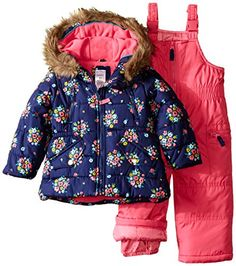 Carter's Girls' Snowsuit With Printed Anorak: Two piece snowsuit with faux fur hood and matching snow bib Snow Wear, Indoor Swimming Pools, Snow Suit, Program Design, Latest Fashion Trends, Faux Fur, Little Girls, Flora, Image Link