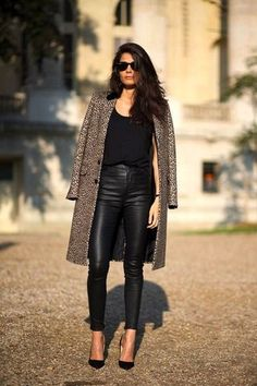 Street Style: Barbara Martelo | Leather Leopard In Paris
