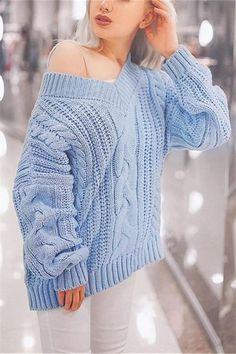 V-Neck Broad-Gauge Knit Sweater. Fashion GamesKnit CardiganCardigansCasual  ... c6bd4db46