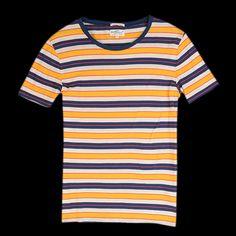 UNIONMADE - GANT Rugger - Multee Stripe T-Shirt in Dandelion Yellow $78
