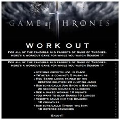 game of thrones workout memes