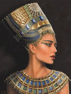 Maxine Gadd produces high quality stunning art works, incorporating beautiful cross stitch pattens incorporating new and favourite art works custom platforms. Ancient Egypt Fashion, Egyptian Fashion, Ancient Egypt Art, Egyptian Beauty, Egyptian Queen, Egyptian Goddess, Egyptian Art, Egyptian Jewelry, Ancient Egyptian Makeup