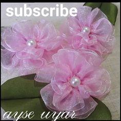 Boutique Hair Bows, Ribbon Hair Bows, Handmade Flowers, Felt Crafts, Fabric Flowers, Crochet, Totoro, Wedding, Ribbon Flower Tutorial