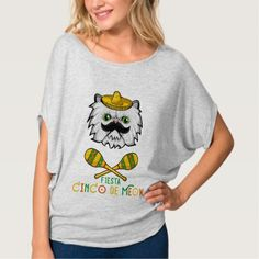 Cinco de Meow Funny Cinco de Mayo Cat T-Shirt - cat cats kitten kitty b049b5005fa1