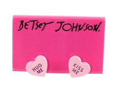Betsey Johnson Jewelry Candyland Candy Heart Earrings New 2012 | eBay