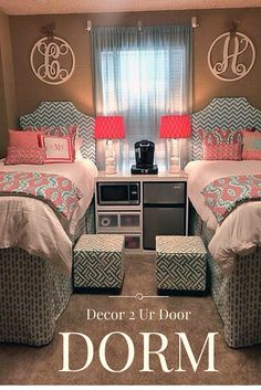 Our best selling dorm bedding set of all time! Crazy coral and calming aqua create a bedding ensemble sure to be a hit! Trendy geometric and ikat patterns collide in your favorite color wave. Add a custom monogrammed pillow to your set for the ultimate finishing detail.