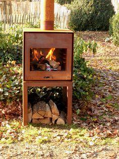 Garden Inspiration, Garden Design, Home Appliances, Outdoor Fireplaces, Barbecues, Patio, Outdoor Kitchens, Stoves, Building Ideas