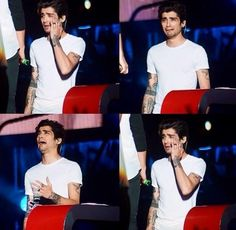 Zayn mimicking how we look when we hear his high note in Moments and You and I
