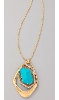 Crystal Encrusted Gold Pendant Necklace