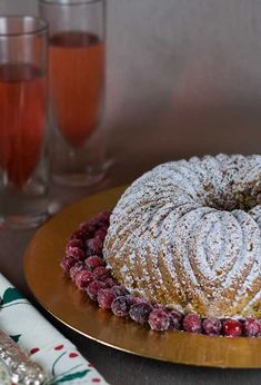 Gluten Free Almond Cranberry Bundt Cake Recipe