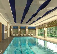 20 tolle Ideen für Schwimmbecken im Innenbereich -