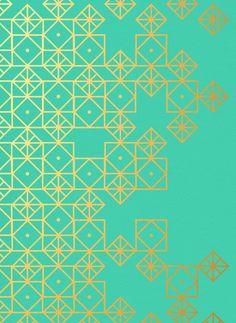 Geometric Turquoise Art Print