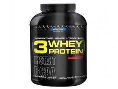Whey Protein 3W Morango 2,2 kg Probiótica - Proteína Concentrada, Isolada e Hidrolizada