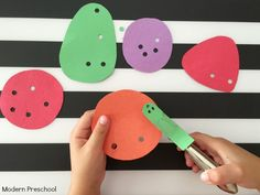 Very Hungry Caterpillar Fine Motor Activity