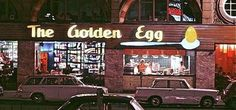 "Golden Egg Restaurant - ""Saturday's Child"" I remember one in Somervile Mass Popeye Cartoon Characters, Sweet Memories, Childhood Memories, Penny For The Guy, Egg Restaurant, Johannesburg City, Third World Countries, Time Of Your Life, Romance Authors"