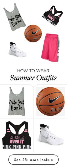 """Practice outfit for Basketball"" by tierranoel on Polyvore featuring NIKE"