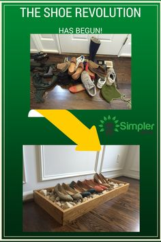 The shoe revolution has begun! Simplify your life and de-clutter your house by organizing your shoes (or anything else!) with a handmade wood tray.
