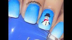 رسمة اظافر شتيوية - رسم الاظافر بالاسفنجة - تفاحه لرسم الاظافر - Winter ... Nail Art Designs, Nails, Finger Nails, Ongles, Nail, Nail Design, Nail Art, Manicures