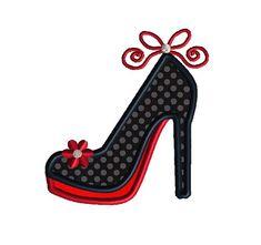 High Heel Applique Machine Embroidery Design-INSTANT por SewChaCha